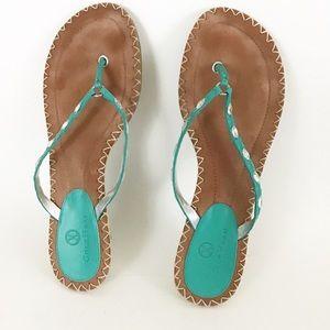 Turquoise Heeled Espadrille Sandal